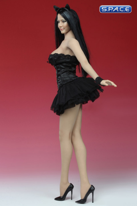 1/6 Scale Basque Corset Dress (Black)