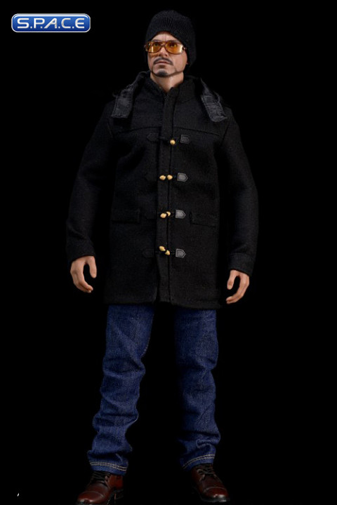 1/6 Scale black medium Duffle Coat Set