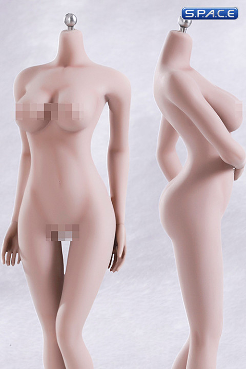 1/6 Scale Seamless Female pale emulated Body large breast / headless (Super-Flexible)