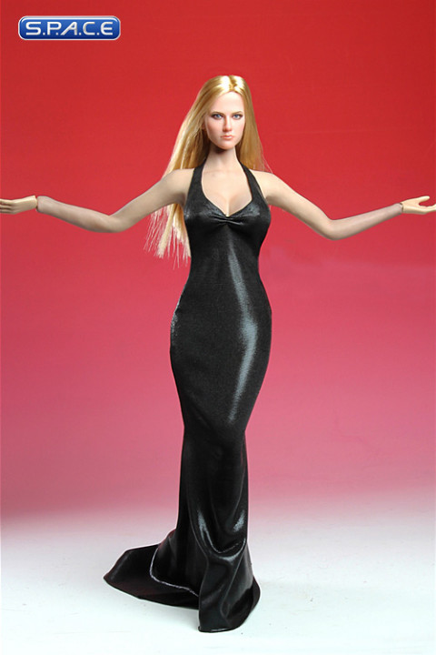 1/6 Scale black Elegant Dress