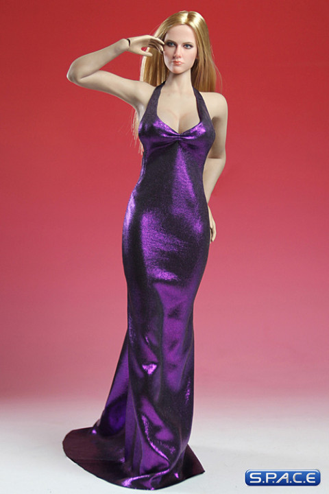 1/6 Scale purple Elegant Dress