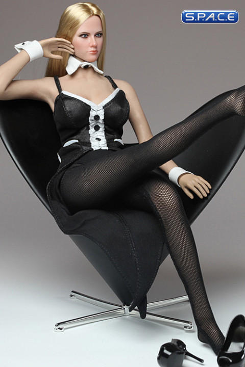 1/6 Scale black Bunny Chair