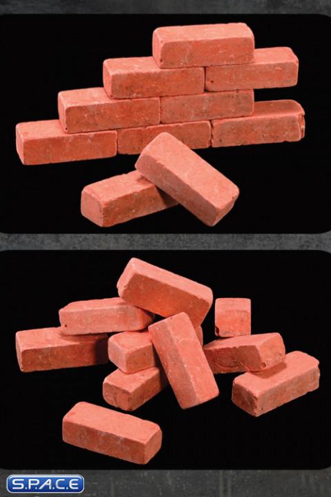 1/6 Scale Bag of 10 Red Bricks