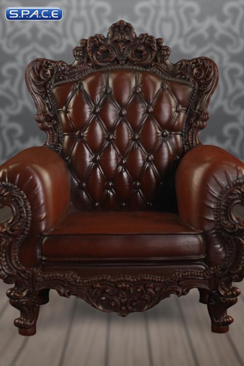 1/6 Scale brown Single Sofa