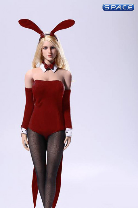 1/6 Scale Sexy Waitress Bunny Girl suit red
