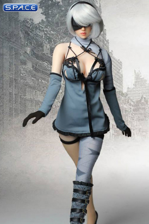 1/6 Scale blue Robot Girl Cosplay Set