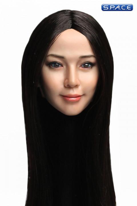 1/6 Scale Reika Head Sculpt (long black hair)