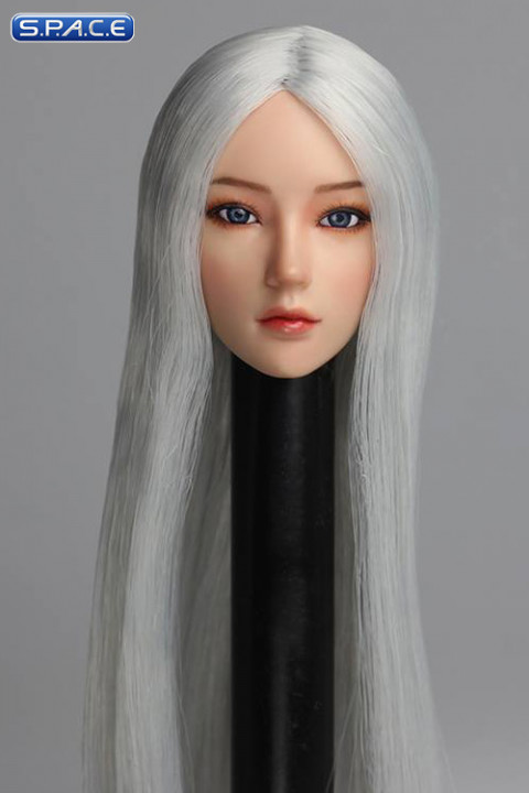 1/6 Scale Mika Head Sculpt (white Hair)