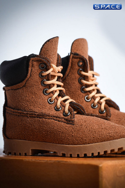 1/6 Scale brown suede-optics female Boots