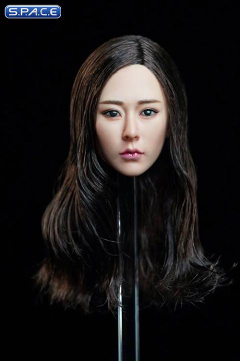 1/6 Scale  Kaiwen Head Sculpt (wavy brunette hair)