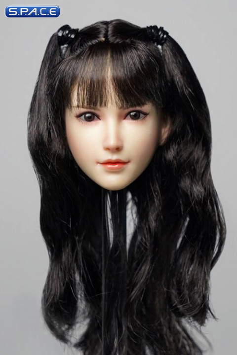 1/6 Scale Sachiko Head Sculpt (black hair with pigtails and bangs)