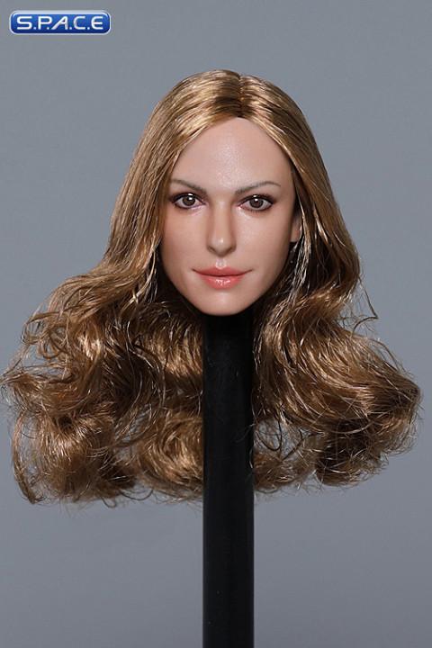 1/6 Scale Anne Head Sculpt (long brown curly hair)