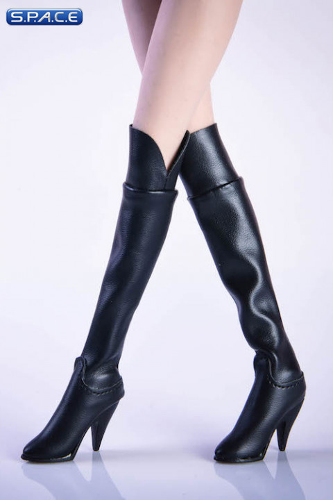 1/6 Scale over-the-knee boots (black)