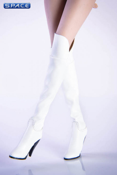 1/6 Scale over-the-knee boots (white)
