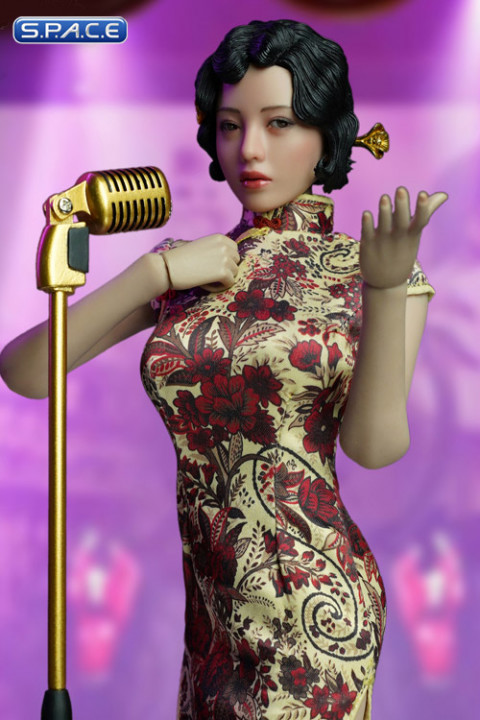 1/6 Scale gold Shanghai Nightclub Singer Cosplay Set