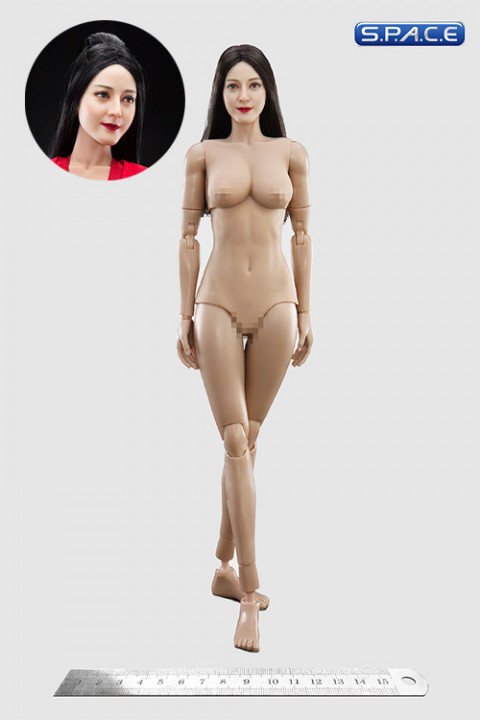 1/6 Scale Female Body with Asian Beauty Head (antique hairstyle)