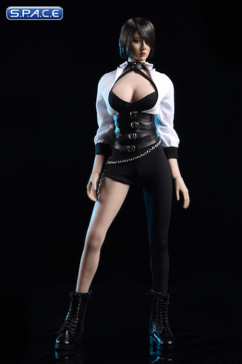 1/6 Scale Tight Pants and white Shirt