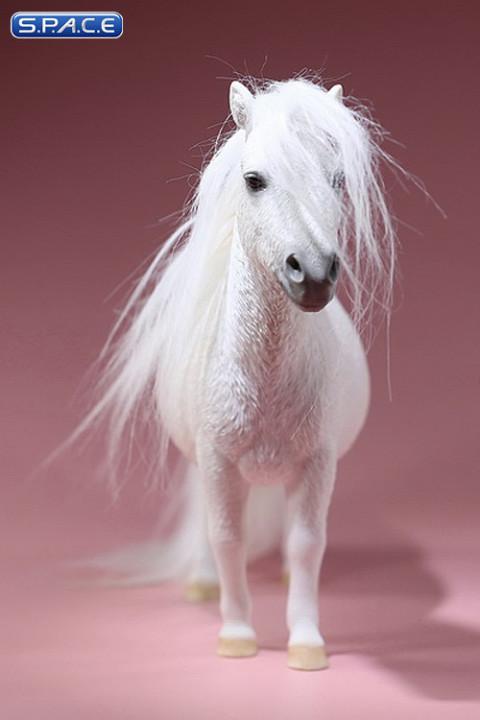 1/6 Scale white Shetland Pony