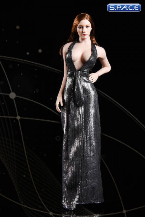 1/6 Scale silver Marilyn Dress