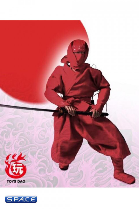 1/6 Scale red Ninja Suit
