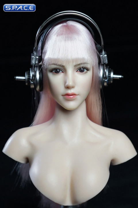 1/6 Scale Iris Head Sculpt with headphone (white hair)