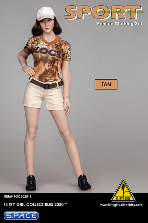 1/6 Scale Female Clothing Set with shorts (tan)