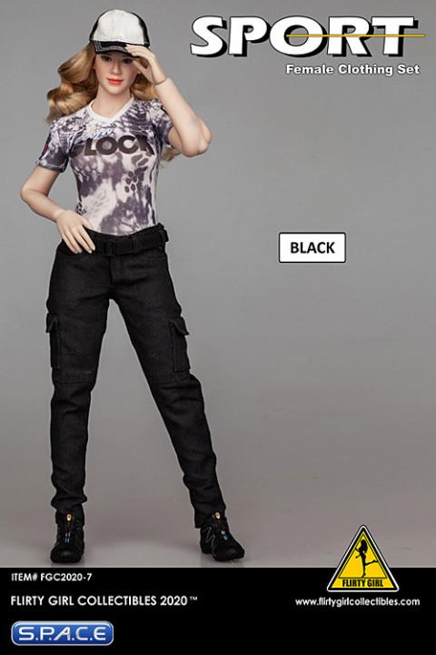 1/6 Scale Female Clothing Set with cargopants (black)