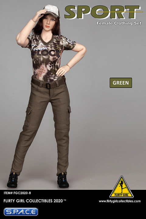 1/6 Scale Female Clothing Set with cargopants (green)