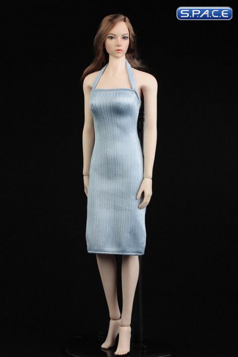 1/6 Scale neckholder Dress (light blue)
