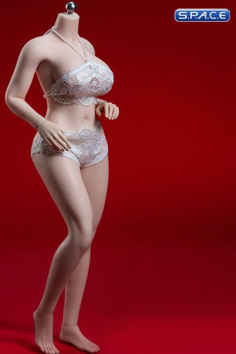 1/6 Scale female super-flexible seamless curvy pale Body with large breast / headless