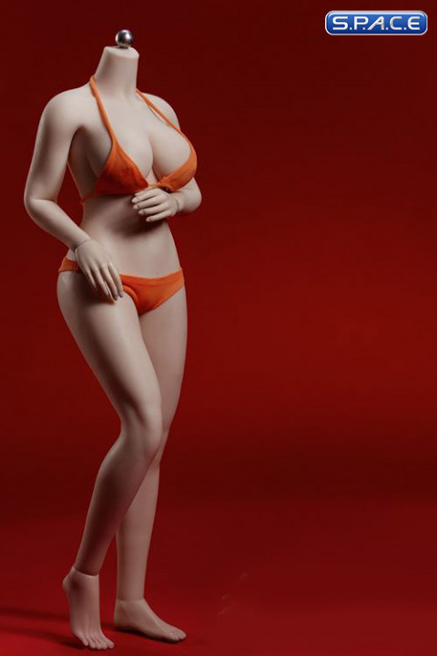 1/6 Scale female super-flexible seamless curvy suntan Body with large breast / headless