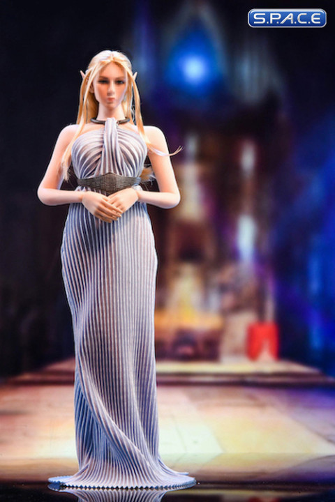 1/6 Scale backless Evening Dress (light purple)
