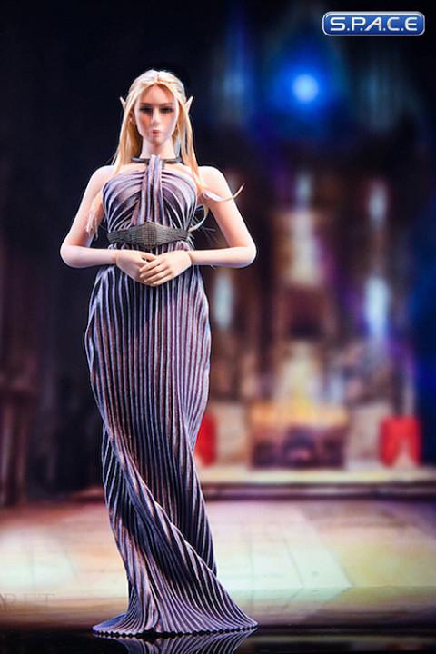 1/6 Scale backless Evening Dress (deep purple)