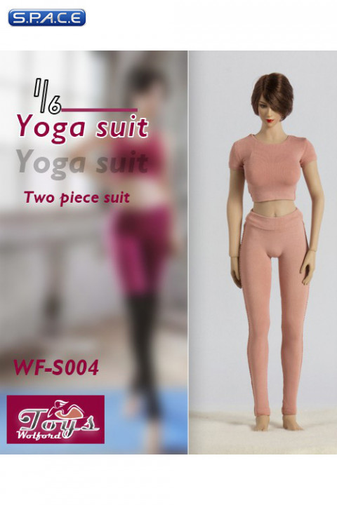 1/6 Scale two-piece Yoga Suit (pink)
