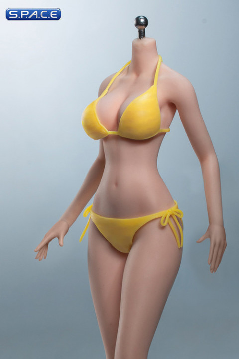1/6 Scale female super-flexible seamless pale Body with large breast / headless