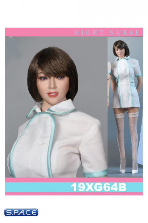 1/6 Scale Night Nurse Character Set with short hair head sculpt
