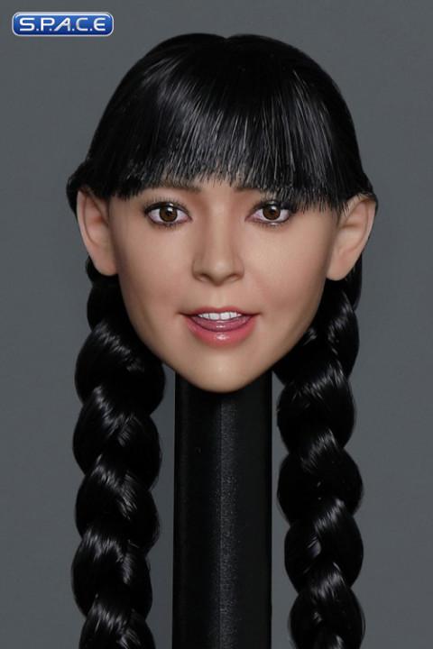 1/6 Scale Sue Head Sculpt (long black hair with braid)
