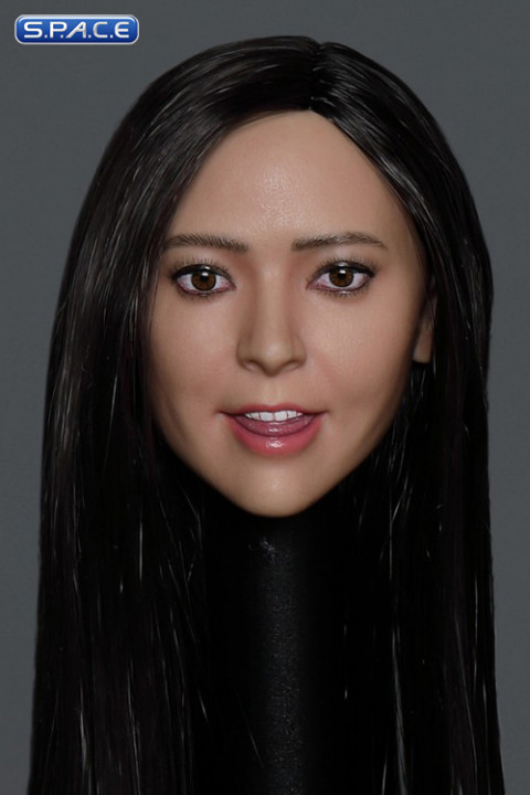 1/6 Scale Sue Head Sculpt (long black hair)