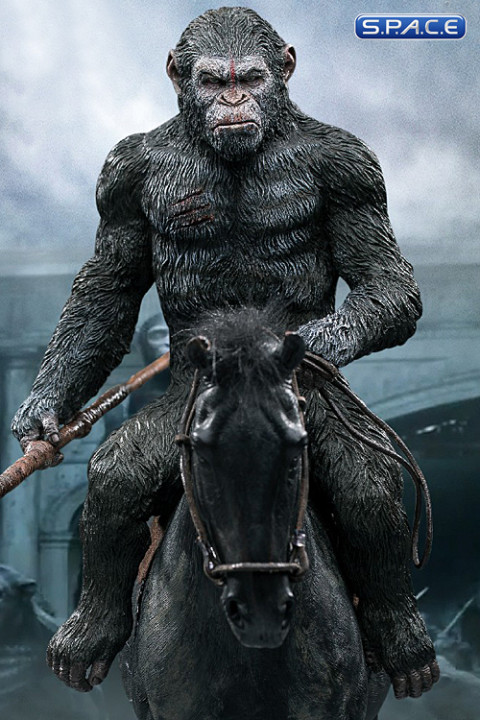 Caesar with Spear Mixed Media Statue (Dawn of the Planet of the Apes)
