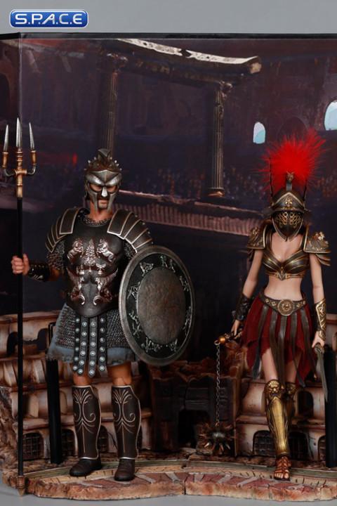 1/6 Scale Gladiatrix with red crista & Gladiator Decimus Set