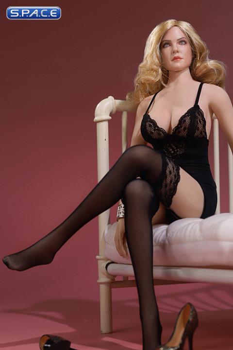 1/6 Scale exquisite underwear large size (black)