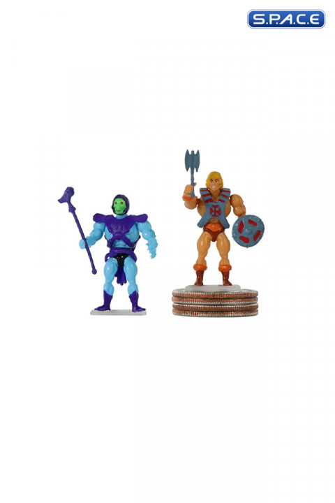 2er Satz: He-Man & Skeletor Worlds Smallest Micro Action Figures (Masters of the Universe)
