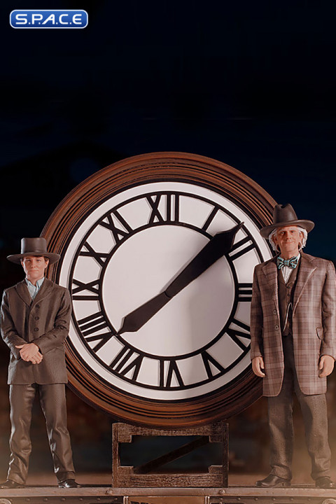 1/10 Scale Marty and Doc at the Clock Deluxe Art Scale Statue (Back to the Future 3)