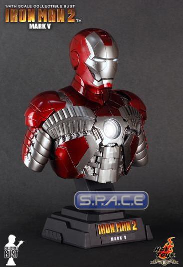 1/4 Scale Iron Man Mark V Bust (Iron Man 2)