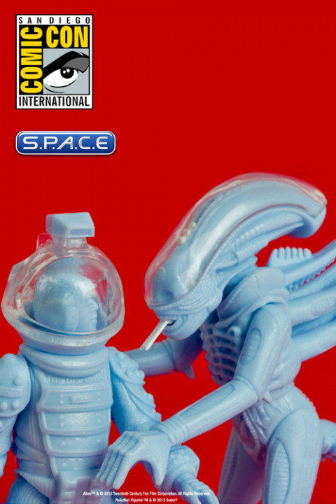 Alien Reaction Figure 2-Pack Discovered Sales Samples SDCC 2013 Exclusive