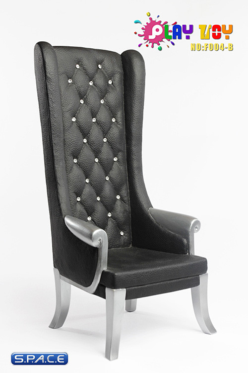 1 6 scale high back chair black s p a c e space for Chaise 5013