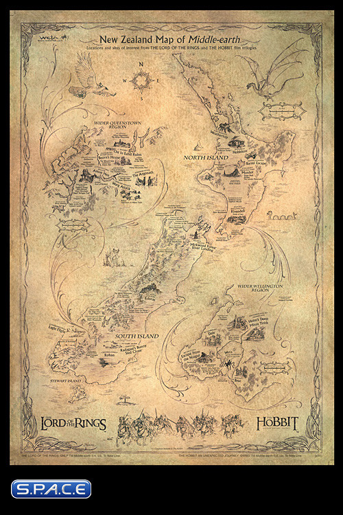 New Zealand Map of Middle-Earth V2.0 (The Hobbit ...