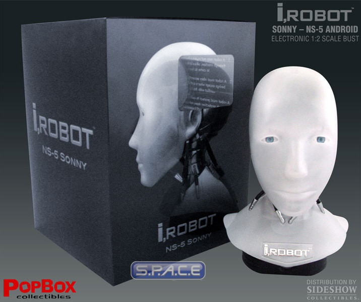 1 2 Scale Ns 5 Sonny Head Replica I Robot S P A C E