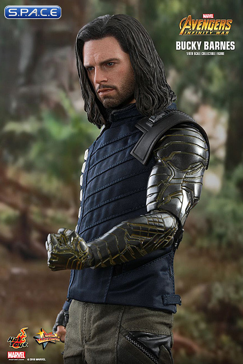 1 6 scale bucky barnes movie masterpiece mms509 avengers infinity war s p a c e space. Black Bedroom Furniture Sets. Home Design Ideas