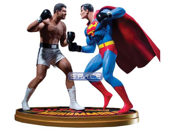 superman vs muhammad ali statue dc comics s p a c e space. Black Bedroom Furniture Sets. Home Design Ideas